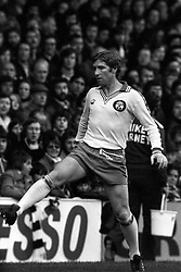 Southampton's midfielder star Alan Ball. Born at Farnworth, near Bolton and many times an England player, Ball started his League career with Blackpool and later moved to Everton. Transferred from Everton to Arsenal in December 1971, he spent five years with the Gunners before making a move to Southampton in December 1976.