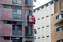 South Africa Durban - 22 JUNE 2020 -Coronavirus : A blanket hangs out of the one of many condemned buildings near eThekwini's harbour, Decay and rot near Victoria Embankment has become a familiar sight for residents. This is despite eThekwini making numerous attempts to rejuvinate the harbour area and the centrak business district. <br /> PICTURE :Bongani Mbatha /African News Agency (ANA)