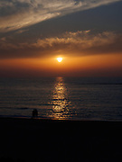 sun-set over the mediterranean sea. Photographed in Israel