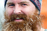 NEWS&GUIDE PHOTO / PRICE CHAMBERS<br /> Chris Lundberg sports a frosty beard after finishing the Turkey Trot 5 kilometer race on Thanksgiving morning at the Teton County Recreation Center.
