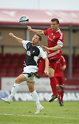 Burton O'Brein & Stuckmann.<br /> Falkirk v FC Vaduz, Europa League Qualifying.<br /> ©2009 Michael Schofield. All Rights Reserved.