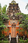 Apr 24 - UBUD, BALI, INDONESIA: The entrance to the Royal Palace in Ubud, Bali. Photo by Jack Kurtz/ZUMA Press