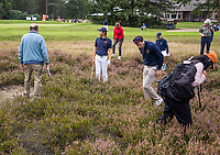 HILVERSUM - Netherlands vs Italy (1-2) . Dutch Jerry Ji is looking for his ball the heather.  . Quarter finals. ELTK Golf 2020 The Dutch Golf Federation (NGF), The European Golf Federation (EGA) and the Hilversumsche Golf Club will organize Team European Championships for men.  COPYRIGHT KOEN SUYK