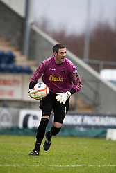 Dunfermline's Paul Gallacher. Falkirk 1 v 0 Dunfermline, 16/2/2013..©Michael Schofield.