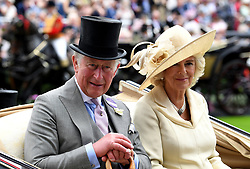 The Prince of Wales and The Duchess of Cornwall during day one of Royal Ascot at Ascot Racecourse