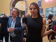 VISCOUNT WEYMOUTH; VISCOUNTESS WEYMOUTH, Royal Academy of Arts Summer Party. Burlington House, Piccadilly. London. 7June 2017