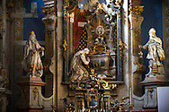 Baroque interior of the church of St Francis Borgia, Eger, Hungary .<br /> <br /> Visit our HUNGARY HISTORIC PLACES PHOTO COLLECTIONS for more photos to download or buy as wall art prints https://funkystock.photoshelter.com/gallery-collection/Pictures-Images-of-Hungary-Photos-of-Hungarian-Historic-Landmark-Sites/C0000Te8AnPgxjRg