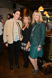 Left to right, DOROTHEA AVERY, ANNABEL KARMEL and SIGRID KIRK at a ladies lunch hosted by Thomasina Miers was held at her restaurant Wahaca, 19-23 Charlotte Street, London W1 on 10th January 2014.
