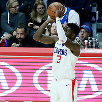 26 December 2017: LA Clippers forward Jamil Wilson (13) takes a jump shot during the LA Clippers 122-95 victory over the Sacramento Kings, at the Staples Center, Los Angeles, California, USA.