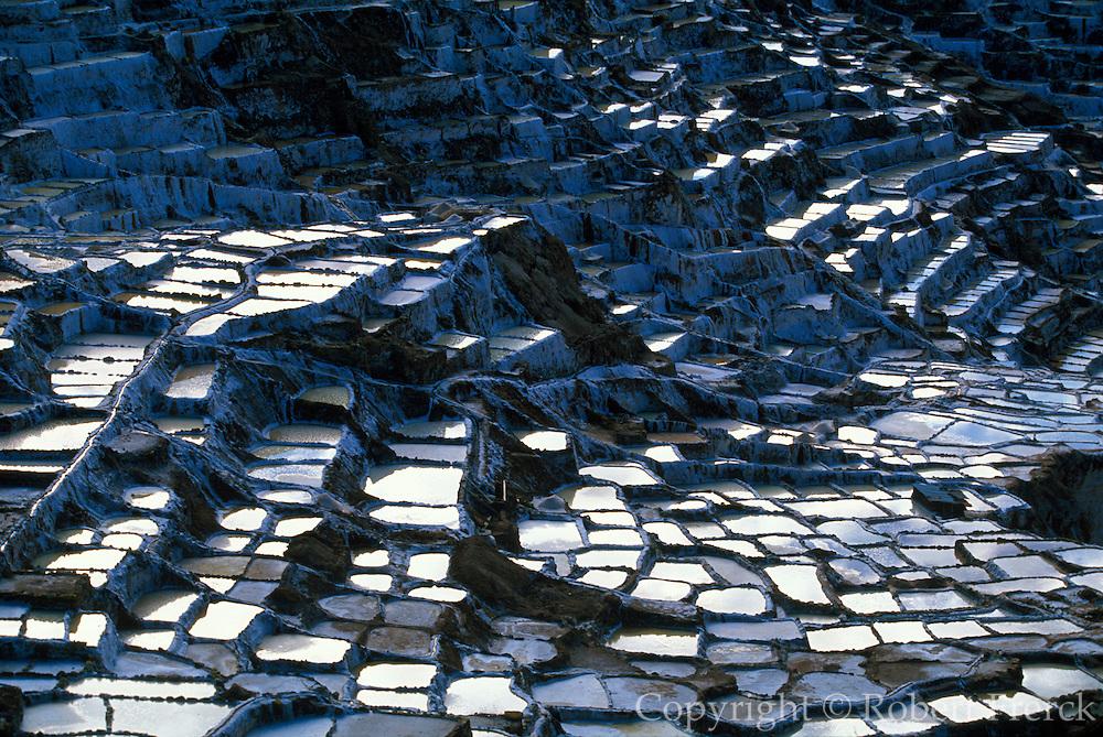 PERU, HIGHLANDS, INCA Salinas; ponds for collecting salt
