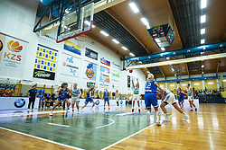 during basketball match qualifications for European Championship, round 1, between national teams Slovenia and Greece in Arena Celje - Center, 14. November, Ljubljana, Slovenia. Photo by Grega Valancic / Sportida