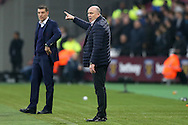 Mike Phelan, the Hull City manager looking on from the touchline. Premier league match, West Ham Utd v Hull city at the London Stadium, Queen Elizabeth Olympic Park in London on Saturday 17th December 2016.<br /> pic by John Patrick Fletcher, Andrew Orchard sports photography.
