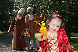 TV3's newest faces Andrea Hayes and Connor Clear pictured with 4 year old, Alannah Walsh from Swords, dressed in Venetian attire <br />at the launch of the Fighting Blindness Venetian Carnevale, which takes place in Clontarf Castle on the 22nd March 2008<br /><br />Commissioned by Elevate PR *** Local Caption *** It is important to note that under the COPYRIGHT AND RELATED RIGHTS ACT 2000 the copyright of these photographs are the property of the photographer and they cannot be copied, scanned, reproduced or electronically stored in any form whatsoever without the written permission of the photographer