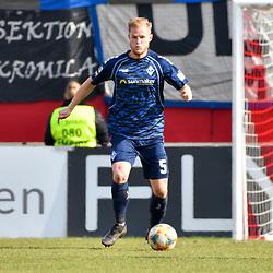 Waldhofs Marcel Seegert (Nr.5) am Ball beim Spiel in der 3. Liga, FC Wuerzburger Kickers - SV Waldhof Mannheim.<br /> <br /> Foto © PIX-Sportfotos *** Foto ist honorarpflichtig! *** Auf Anfrage in hoeherer Qualitaet/Aufloesung. Belegexemplar erbeten. Veroeffentlichung ausschliesslich fuer journalistisch-publizistische Zwecke. For editorial use only. DFL regulations prohibit any use of photographs as image sequences and/or quasi-video.