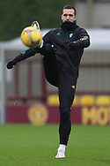 Shane Duffy (Celtic) is dropped during the Scottish Premiership match between Motherwell and Celtic at Fir Park, Motherwell, Scotland on 8 November 2020.