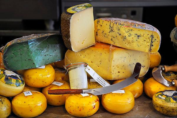 Nederland, Den Bosch, 21-5-2009Verschillende soorten ambachtelijke kaas in winkel  het Landerijk.Foto: Flip Franssen/Hollandse Hoogte