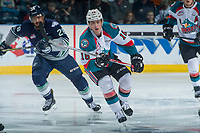 KELOWNA, CANADA - APRIL 30: Kole Lind #16 of the Kelowna Rockets skates against the Seattle Thunderbirds on April 30, 2017 at Prospera Place in Kelowna, British Columbia, Canada.  (Photo by Marissa Baecker/Shoot the Breeze)  *** Local Caption ***