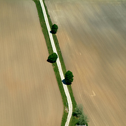 Aerial art abstract of a farm in Lancaster, PA showing geometry of lines in the earth.