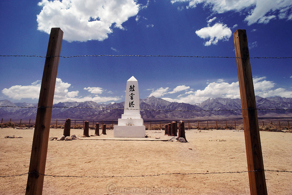 Manzanar War Relocation Center was one of ten camps at which Japanese American citizens and resident Japanese aliens were interned during World War II. Located at the foot of the imposing Sierra Nevada in eastern California's Owens Valley, Manzanar has been identified as the best preserved of these camps. Route 395: Eastern Sierra Nevada Mountains of California.