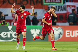 October 5, 2017 - Yerevan, Armenia - Hovhannes Hambartsumyan (ARM) celebrates a goal during the FIFA World Cup 2018 qualification football match between Armenia and Poland in Yerevan on October 5, 2017. (Credit Image: © Foto Olimpik/NurPhoto via ZUMA Press)