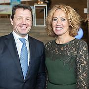 NLD/Amsterdam/20190314  - Koning bij viering 100 jaar Luchtvaart  in Nederland, Pieter Elbers en partner