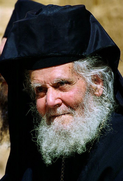 Orthodox monk at St Catherine's Monastery in Sinai Desert in Egypt