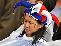 GEPA-1706085624 - ZUERICH,SCHWEIZ,17.JUN.08 - FUSSBALL - UEFA Europameisterschaft, EURO 2008, Frankreich vs Italien, FRA vs ITA. Bild zeigt einen Frankreich-Fan. Keyword: Enttaeuschung. <br />Foto: GEPA pictures/ Oliver Lerch
