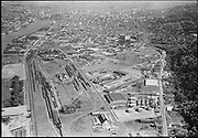 """Ackroyd 06803-2. """"Commonwealth Inc. Aerials of NW district. Guilds Lake district. April 23, 1956"""" (5x7"""")"""