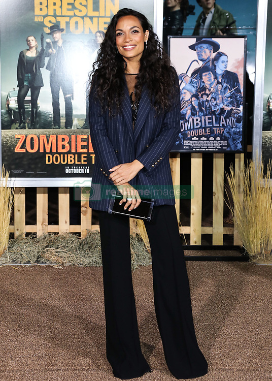 WESTWOOD, LOS ANGELES, CALIFORNIA, USA - OCTOBER 10: Los Angeles Premiere Of Sony Pictures' 'Zombieland Double Tap' held at the Regency Village Theatre on October 10, 2019 in Westwood, Los Angeles, California, United States. 10 Oct 2019 Pictured: Rosario Dawson. Photo credit: Xavier Collin/Image Press Agency/MEGA TheMegaAgency.com +1 888 505 6342