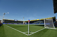 a General view of Selhurst Park pitch before k/o. Barclays Premier league match, Crystal Palace v Aston Villa at Selhurst Park in London on Saturday 22nd August 2015.<br /> pic by John Patrick Fletcher, Andrew Orchard sports photography.