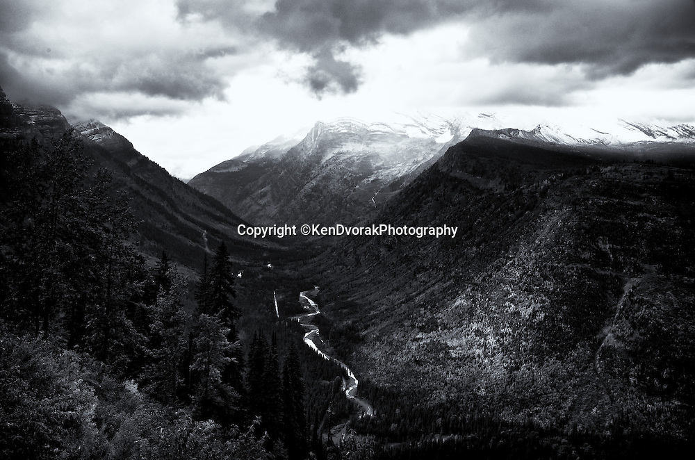 Glacier NP 2013<br /> converted to B&W 1/20/14