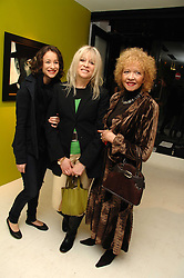Left to right, LEAH WOOD, her mother JO WOOD and her mother RACHEL KARSLAKE at an exhibition of artist Paul Karslake's work entitled Ideas & Idols, held at Scream, 34 Bruton Street, London W1 on 21st February 2008.<br /><br />NON EXCLUSIVE - WORLD RIGHTS