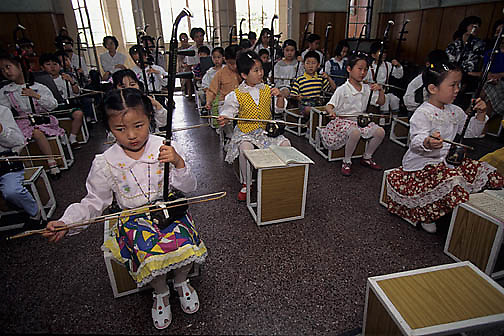 China, Music students at Children's Palace School in Shanghai.