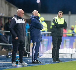 Hibernian's manager Alan Stubbs. <br /> Falkirk 1 v 1 Hibernian, Scottish Championship game played 17/1/2015 at The Falkirk Stadium.