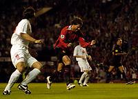 Fotball<br /> England 2005/2006<br /> Foto: SBI/Digitalsport<br /> NORWAY ONLY<br /> <br /> Manchester United v Debrecen VSC. UEFA Champions League Qualifier.<br /> 09/08/2005.<br /> <br /> Manchester United's Ruud van Nistelrooy celebrates.