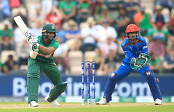 Bangladesh's Shakib Al Hasan (left) during the ICC Cricket World Cup group stage match at The Hampshire Bowl, Southampton.