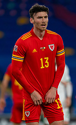 CARDIFF, WALES - Sunday, November 15, 2020: Wales' Kieffer Moore during the UEFA Nations League Group Stage League B Group 4 match between Wales and Republic of Ireland at the Cardiff City Stadium. Wales won 1-0. (Pic by David Rawcliffe/Propaganda)