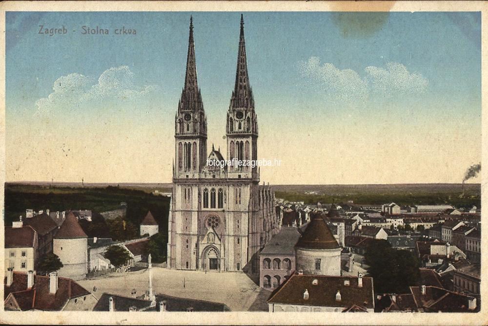Zagreb : Stolna crkva. <br /> <br /> ImpresumZagreb : C. Weiss, [1912].<br /> Materijalni opis1 razglednica : tisak ; 9 x 14 cm.<br /> Mjesto izdavanjaZagreb<br /> Vrstavizualna građa • razglednice<br /> ZbirkaGrafička zbirka NSK • Zbirka razglednica<br /> Formatimage/jpeg<br /> PredmetZagreb –– Kaptol<br /> Katedrala Uznesenja Marijina (Zagreb)<br /> SignaturaRZG-KAP-55<br /> Obuhvat(vremenski)20. stoljeće<br /> NapomenaRazglednica je putovala 1912. godine.<br /> PravaJavno dobro<br /> Identifikatori000955562<br /> NBN.HRNBN: urn:nbn:hr:238:495887 <br /> <br /> Izvor: Digitalne zbirke Nacionalne i sveučilišne knjižnice u Zagrebu