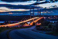 Tacoma Narrows Bridge @ Dusk, Tacoma, Washington, USA