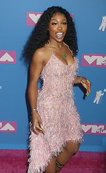 August 20, 2018 - New York City, New York, U.S. - Singer SZA attends the arrivals for the 2018 MTV 'VMAS' held at Radio City Music Hall. (Credit Image: © Nancy Kaszerman via ZUMA Wire)