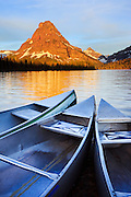 Mt Sinopah reflects in Two Medicine Lake, Glacier National Park