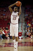 Nov 16, 2011; Fayetteville, AR, USA;  Arkansas Razorbacks forward Marshawn Powell (33) looks to make a pass during a game against the Oakland Grizzlies at Bud Walton Arena. Arkansas defeated Oakland 91-68. Mandatory Credit: Beth Hall-US PRESSWIRE