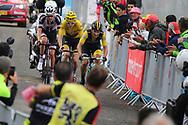 Primoz Roglic (SLO - Team LottoNL - Jumbo) - Geraint Thomas (GBR - Team Sky) - Tom Dumoulin (NED - Team Sunweb) during the 105th Tour de France 2018, Stage 17, Bagneres de Luchon - Col du Portet (65 km) on July 25th, 2018 - Photo Kei Tsuji / BettiniPhoto / ProSportsImages / DPPI