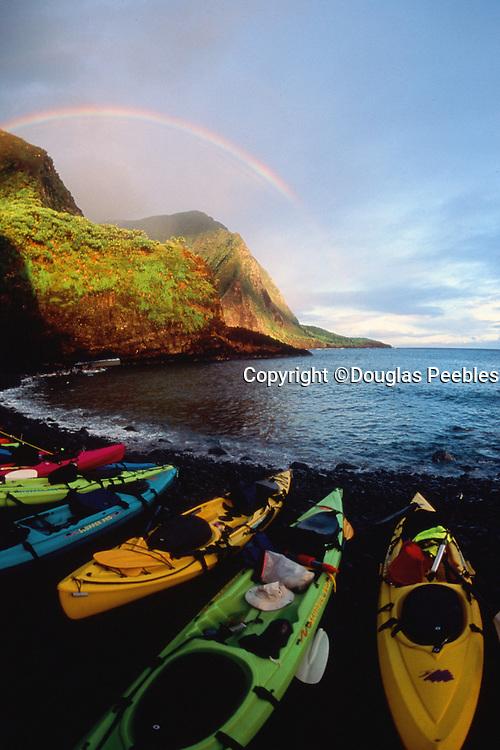 Kayak, Hakaano, North Shore, Molokai, Hawaii