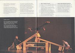 Libretto di Sala of the Theathre show performend at CRT Teatro Dell'arte in Milan in 2012.