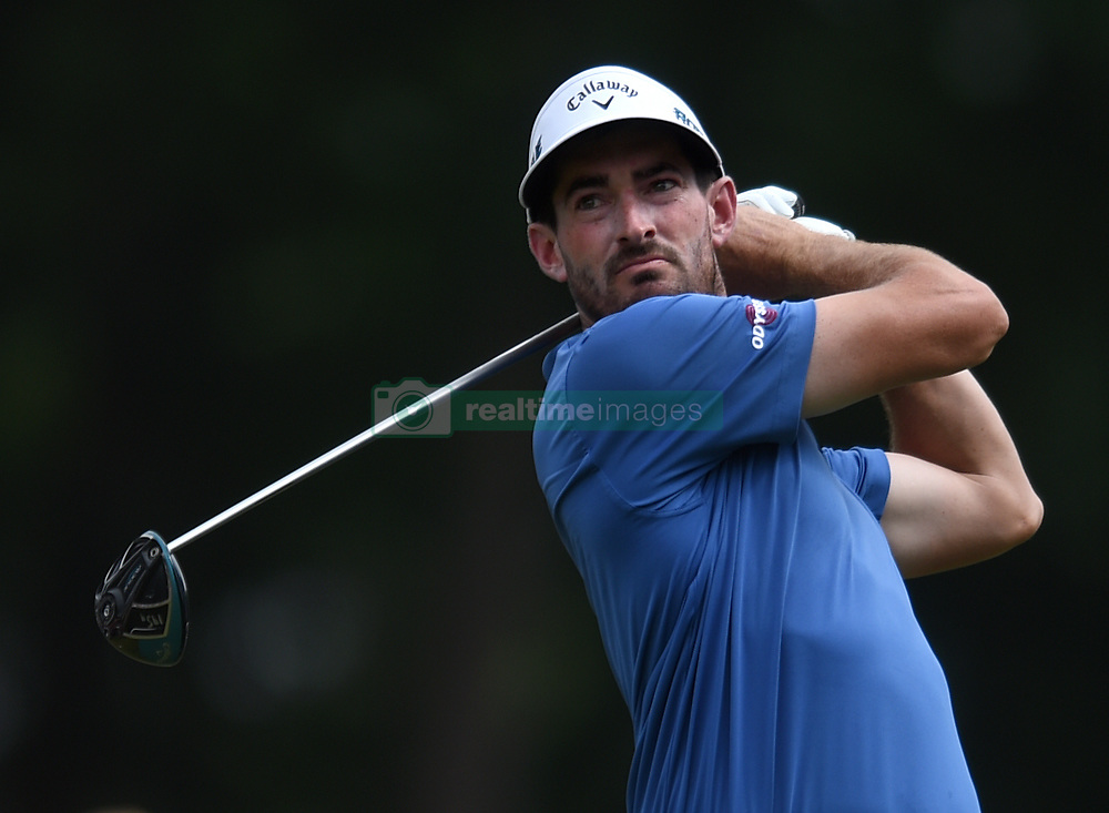 June 24, 2018 - Cromwell, CT, USA - Chase Seiffert tees of on the 18th hole during the final round of the Travelers Championship at TPC River Highlands in Cromwell, Conn., on Sunday, June 24, 2018. (Credit Image: © Brad Horrigan/TNS via ZUMA Wire)
