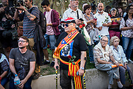 An eldery man during the pro Catalan Indipentia rally