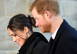 Prince Harry and Meghan Markle visit Cardiff Castle on a day showcasing the culture and heritage of Wales in Cardiff, Wales, UK, on the 18th January 2018. 18 Jan 2018 Pictured: Meghan Markle, Prince Harry. Photo credit: James Whatling / MEGA TheMegaAgency.com +1 888 505 6342