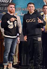 Final Press Conference For Canelo Alvarez vs Gennady Golovkin - 13 Sept 2017
