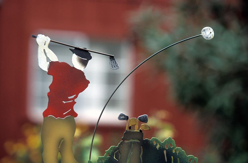Golf sculpture,private residence, Contra Costa County, California, USA